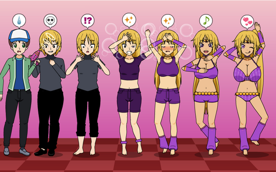 Just Dance 2 Bully To Harem Girl TF TG MC Sequence by greenflame456