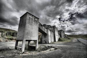 Old cement works, Iceland by Oldtoppy