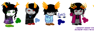Homestuck adopts! this time there's a human! by ButtonmashMC