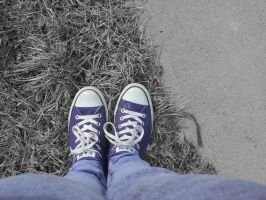 Touch of Color of My Shoes by linziexdiane