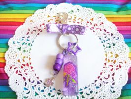 Purple Roses Key Chain by lessthan3chrissy