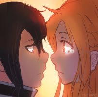 Kirito and Asuna by Hamzilla15