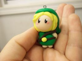 Chibi Link Polymer Clay Creation by BamffaloCrafts