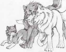 Wolves and Pup 2 by Firewolf-Anime
