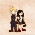 Cloud and Tifa by xxtasnim