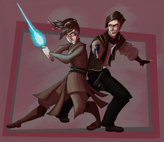:KOTOR: Atton and Exile by mindchill