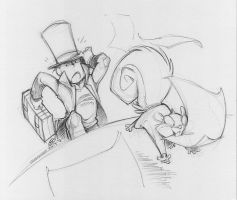 Goofy Layton Sketch:  AnonyPuzz suggests... by zillabean