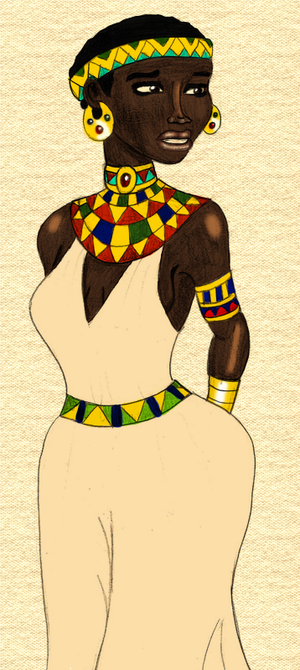 Helen the Nubian Princess (Colored Version)