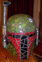 Boba Fett Stained Glass Unlit by mclanesmemories