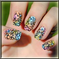 spring nail art by MadamLuck