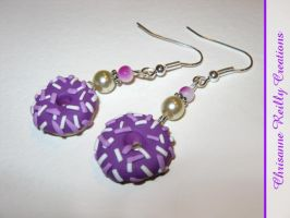 Sugar Sugar Donut Earrings by magur
