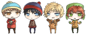 South Park Pixels by TheAngelOfMemories