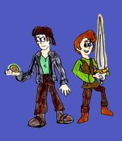 Jim Hawkins and Taran by SonicClone
