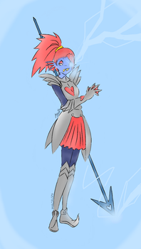 Undyne the Undying by MabelCutebiker
