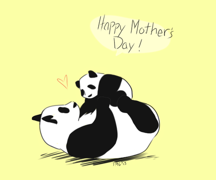 Pandas For Mother's Day 2013 by Room-382