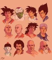 DBZ portraits group 1 by Deimos-Remus