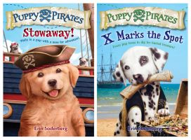 Puppy Pirates #1 and #2 Book Covers by LuzTapia