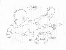 Aang, the Avatar sketch by Ooni