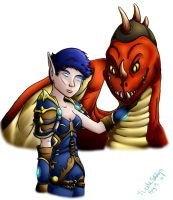 Jenove and her Drake by isisraven
