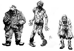 Zombies Commission Inks by Alan-Gallo