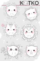 Kotko snowflakes by Quiss