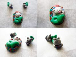 Polymer Clay Capricorn Pendant by Saru-Hime