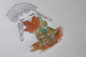 Chibi autumn by mille-nium