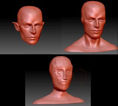Zbrush before printing by batchix