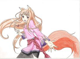 Holo - Spice and Wolf by Tellenya