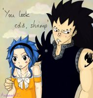 Levy and Gajeel by Andromeda15