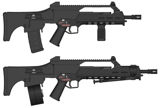 G66 Assault rifle and MG66 LMG by GunFreakFin