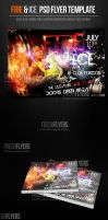 Fire and Ice DJ PSD Flyer Template by ImperialFlyers