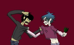 Murdoc and 2d by Bliss-23