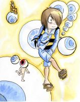Gegege no kitaro and the eyes by mr-book-faced