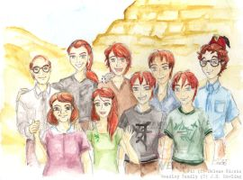 The Weasleys by Sukiitoko