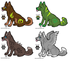 Wolf  adoptables 4-closed- by Dolphin-Adopt
