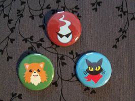Buttons: Ghost Trick set by Quatrina