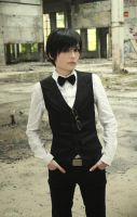 Izaya barmen uniform cosplay by Prince-Lelouch