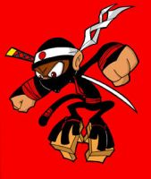 ninja monkey by johnnybuddahfist
