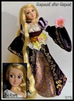 repainted ooak rapunzel doll. seeing the lanterns. by verirrtesIrrlicht