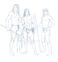 Elven Athletes Sketch by Breogan