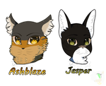 [C] Ashblaze and Jasper__Headshots by tailsOrigins