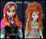 repainted ooak corneration day sleepy anna doll. by verirrtesIrrlicht