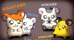 Hamtaro and friends by RavenEvert