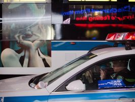 Time Square Cop by PatrickMonnier