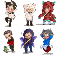 Spirit Chibis - Batch 1 by hiei14