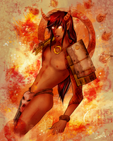 Fire God Ratsu by CarrotCakeBandit