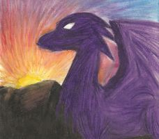 Oil Pastel Dragon by CheekyFox