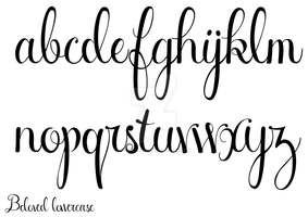 New Beloved Script - lowercase by Weegraphicsman