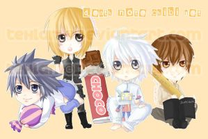Death Note Chibi Set by tehlam
